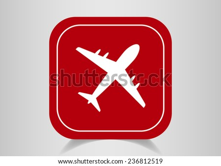 Aircraft Web icon. vector design