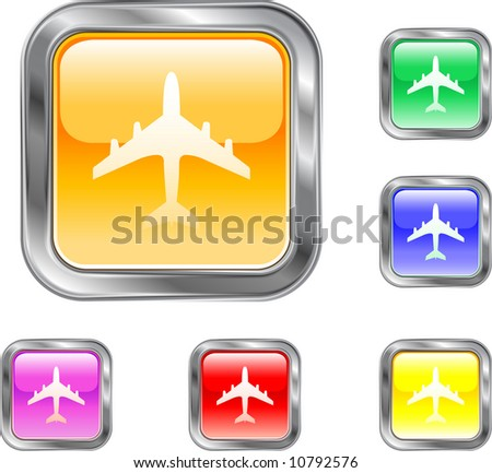 Airline Button - stock vector