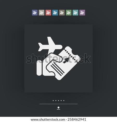 Airline ticket - stock vector