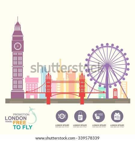 Airline Vector Concept Promotion Travel around the World - stock vector