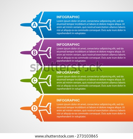 Airlines travel infographics. - stock vector