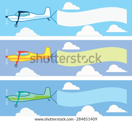 Airplane advertising Vector - stock vector