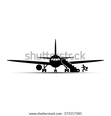 airplane and human