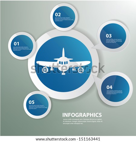Airplane,Blue abstract,Graphics design,vector - stock vector