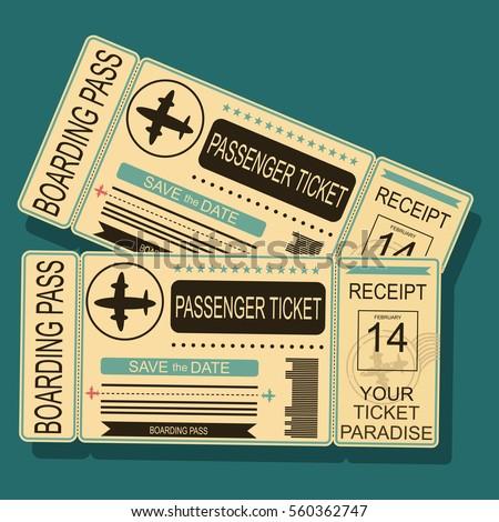 Airplane Boarding Pass Barcode Seal Vector Stock Vector ...