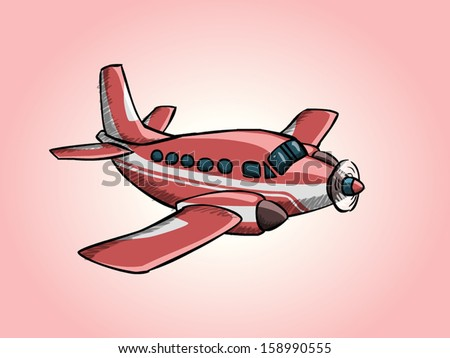 Airplane Doodle 03 - stock vector