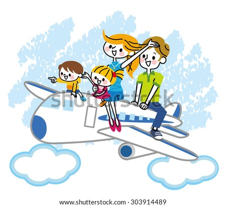 Airplane family - stock vector