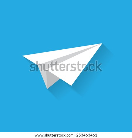 Airplane flat icon with shadow. Vector illustration eps10.