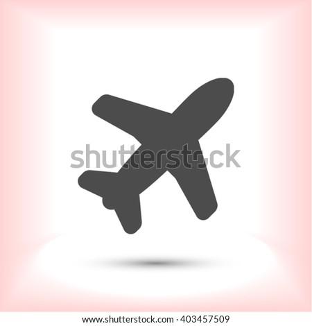 Airplane Icon, Airplane icon flat, Airplane icon picture, Airplane icon vector, Airplane icon EPS10, Airplane icon graphic, Airplane icon object, Airplane icon JPEG, Airplane icon picture - stock vector