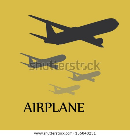 airplane  icon background. vector illustration - stock vector