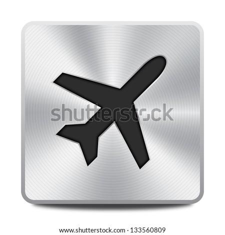 Airplane icon / symbol - stock vector