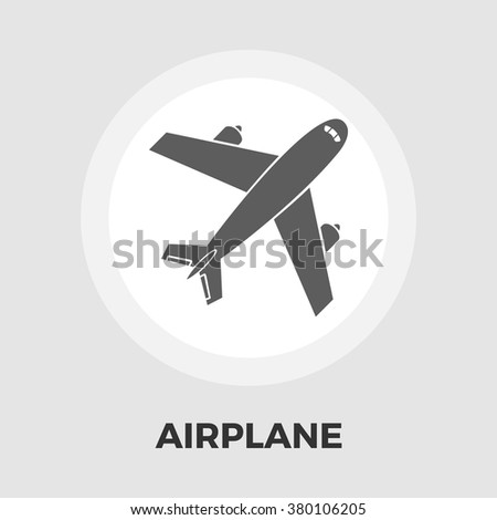 Airplane Icon Vector. Airplane Icon Flat. Airplane Icon Image.  Airplane Icon Object. Airplane Icon Graphic. Airplane Icon Picture.  - stock vector