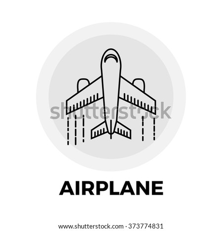 Airplane Icon Vector. Airplane Icon Flat. Airplane Icon Image. Airplane Icon Object. Airplane Line icon. Airplane Icon Graphic. Airplane Icon File. Airplane Icon JPG. Airplane Icon EPS.   - stock vector