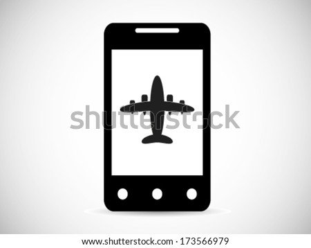 Airplane Mode Smart Phone - stock vector