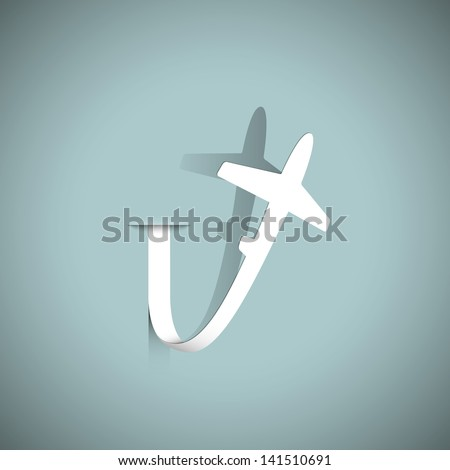 Airplane paper. Vector illustration - stock vector