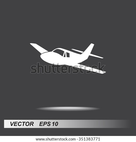 Airplane sign icon, vector illustration. Flat design style