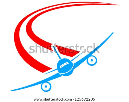 airplane sign - vector illustration - stock vector