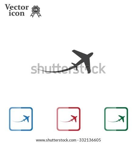 airplane symbol - stock vector