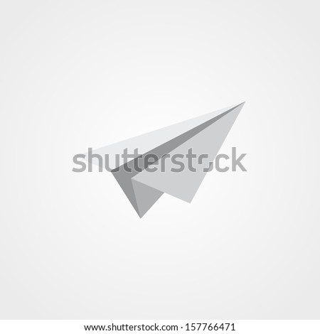 airplane symbol, isolated on white background - stock vector
