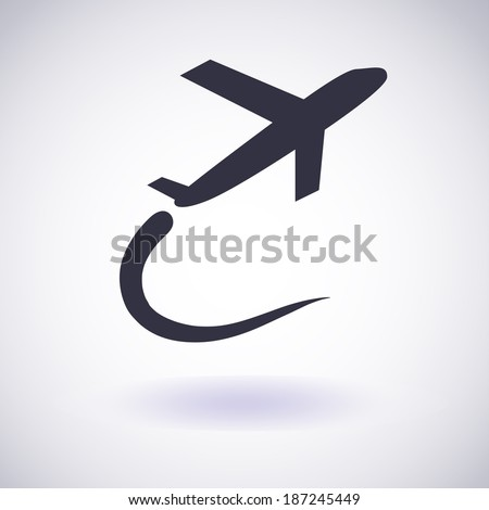 Airplane symbol. Vector icon EPS10 - stock vector
