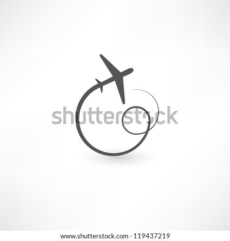 airplane symbols - stock vector