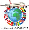 airplane travel - stock