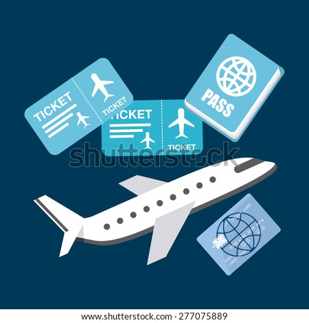 airplane travel design, vector illustration eps10 graphic  - stock vector