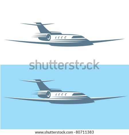 Airplane. Vector