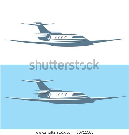 Airplane. Vector - stock vector