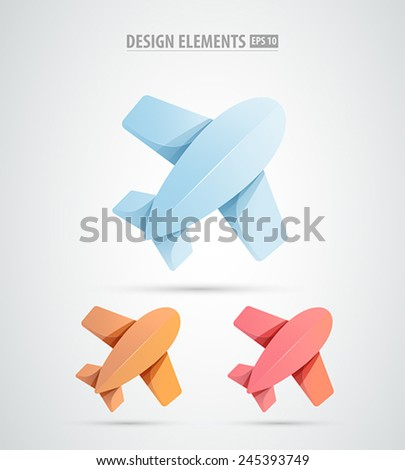 Airplane vector design logo template. Airline tickets icon. Airplane aviation company icon concept.  - stock vector