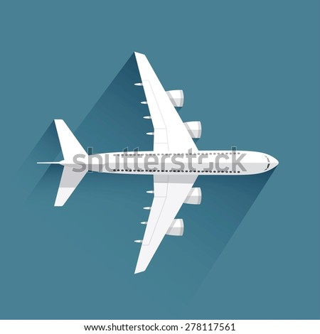 Airplane - vector illustration - stock vector