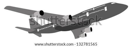 Airplane Vector Illustration, EPS 10. - stock vector