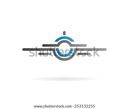 Airplane  vector logo - stock vector