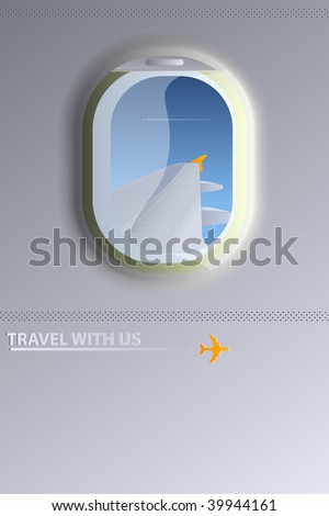 Airplane window - stock vector