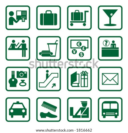 Airport and Travel Icons, Vector File
