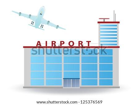 Airport building. Vector - stock vector