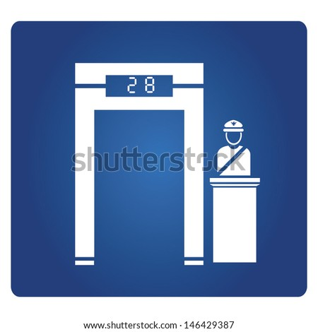 Airport Checkpoint Gate Stock Vector 146429387