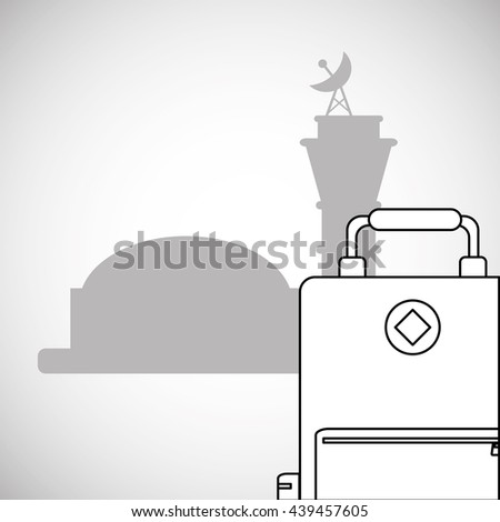 Airport design. travel icon. flat illustration, vector graphic