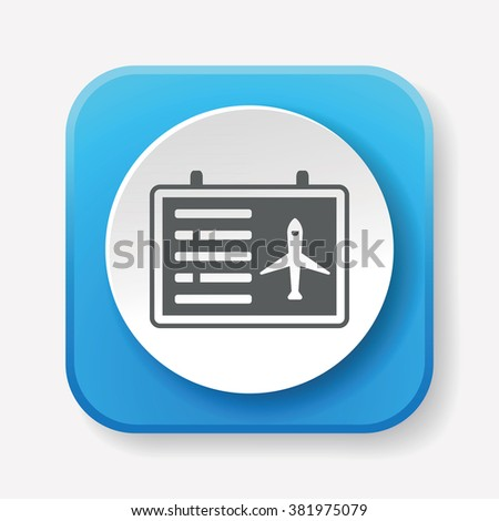 airport information board icon - stock vector