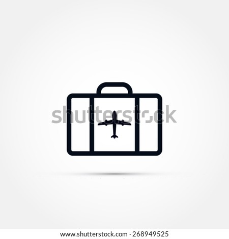 Airport luggage vector icon - stock vector