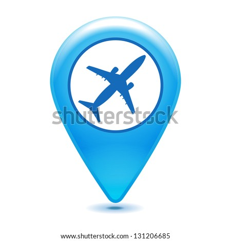airport pointer icon on a white background - stock vector