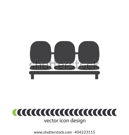 Airport Seat vector icon - stock vector