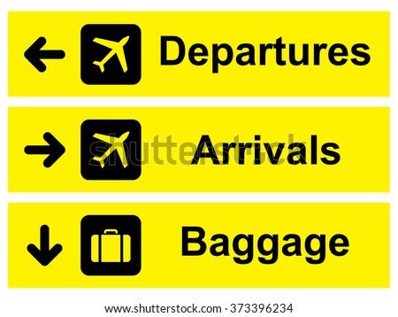 Airport Sign Vector Illustration Stock Vector 373396234 Shutterstock