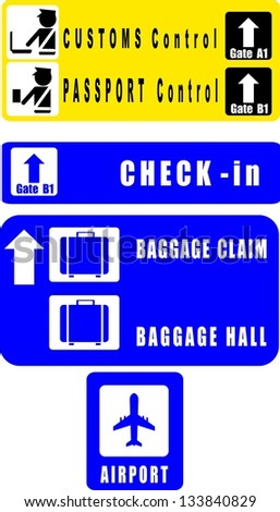 Airport signs. - stock vector
