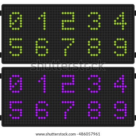Airport timetable board template â?? figures for Web, Presentations, Interface design and Mobile Application.