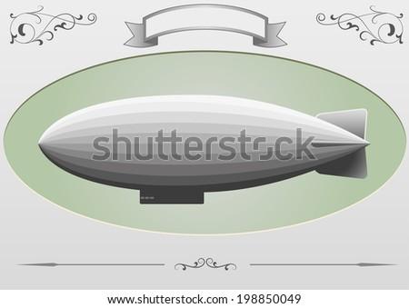 airship - stock vector