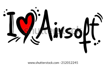 Airsoft love - stock vector
