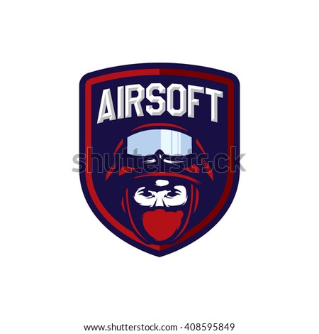 Airsoft Sport Logo Badge