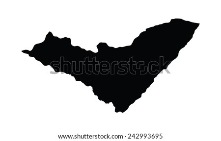 Alagoas, Brazil, vector map isolated on white background. High detailed silhouette illustration.  - stock vector
