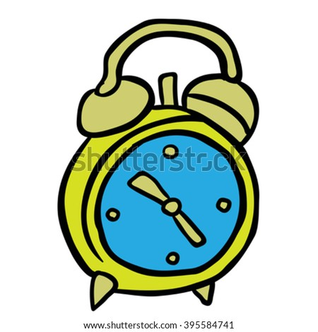 alarm clock cartoon illustration - stock vector